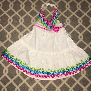 Girls halter top dress size 3T with ruffles